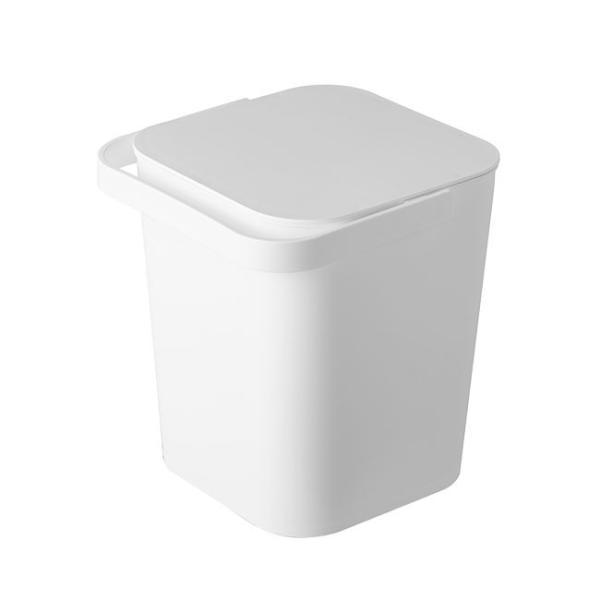 フタ付きバケツ タワー 12L リビング 収納 ホワイト ブラック ゴミ箱 おしゃれ 角型 ごみ箱 収納ボックス インテリア 新生活 ばけつ|kajitano|06