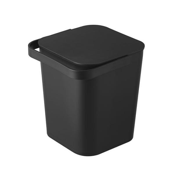 フタ付きバケツ タワー 12L リビング 収納 ホワイト ブラック ゴミ箱 おしゃれ 角型 ごみ箱 収納ボックス インテリア 新生活 ばけつ|kajitano|07