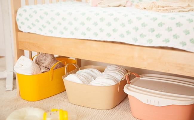 スタックストー ベッド下 収納ボックス 衣装ケース おむつ