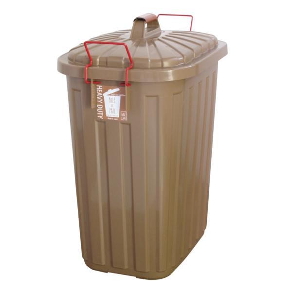 ゴミ箱 おしゃれ 分別 ペールペール 屋外 大型 45リットル ゴミ袋 ふた付き ペールxペール PALE x PAIL 60L 日本製|kajitano|08