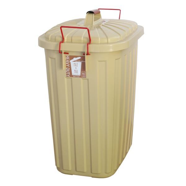 ゴミ箱 おしゃれ 分別 ペールペール 屋外 大型 45リットル ゴミ袋 ふた付き ペールxペール PALE x PAIL 60L 日本製|kajitano|07