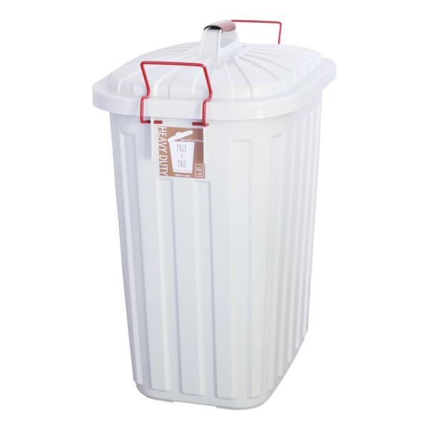 ゴミ箱 おしゃれ 分別 ペールペール 屋外 大型 45リットル ゴミ袋 ふた付き ペールxペール PALE x PAIL 60L 日本製|kajitano|06