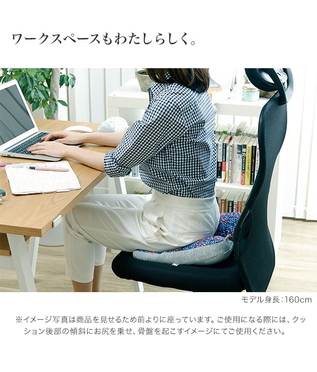 ジムファブ クッション 美姿勢サポートクッション オフィス用サポートクッション ワークスペースも私らしく