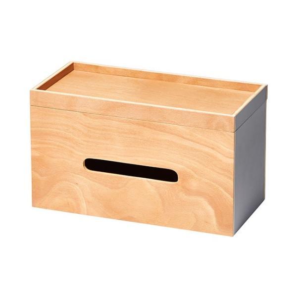 ルーフペーパーボックス ideaco ティッシュケース ペーパー収納 木製 北欧 ウッド インテリア ペーパーボックス イデアコ|kajitano|07