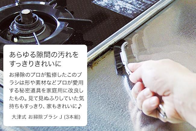 #お掃除特集 大津式 お掃除ブラシ J (3本組)