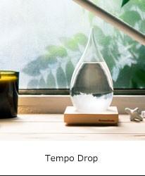 気温が下がるとガラスの中の結晶ができるテンポドロップ
