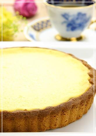 フランスの田舎風焼きチーズタルト