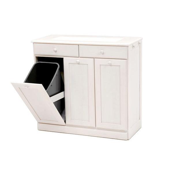 分別ペールカウンター 3分別ダストボックス 25リットル キッチン用ゴミ箱 幅87cm 高さ81cm|kanaemina|17
