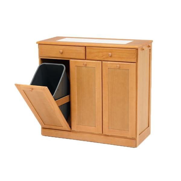 分別ペールカウンター 3分別ダストボックス 25リットル キッチン用ゴミ箱 幅87cm 高さ81cm|kanaemina|18