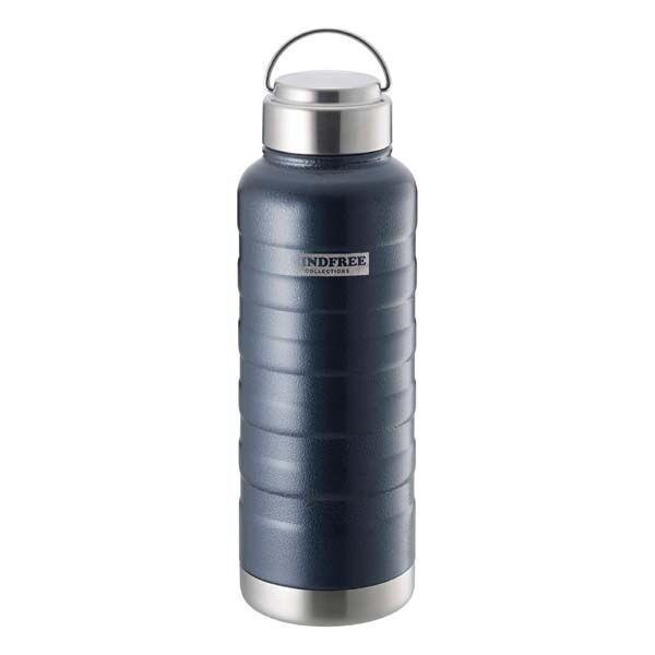 水筒 ステンレスボトル マグボトル 1000ml 1L 直飲み 保温 保冷 真空二重断熱 ネイビー ホワイト|kanaemina|05
