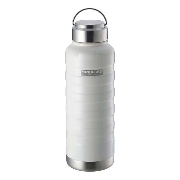 水筒 ステンレスボトル マグボトル 1000ml 1L 直飲み 保温 保冷 真空二重断熱 ネイビー ホワイト|kanaemina|06