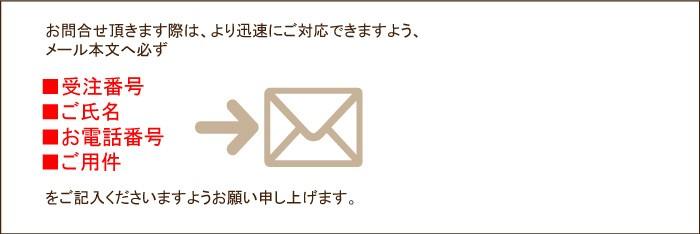 メールでのご連絡方法