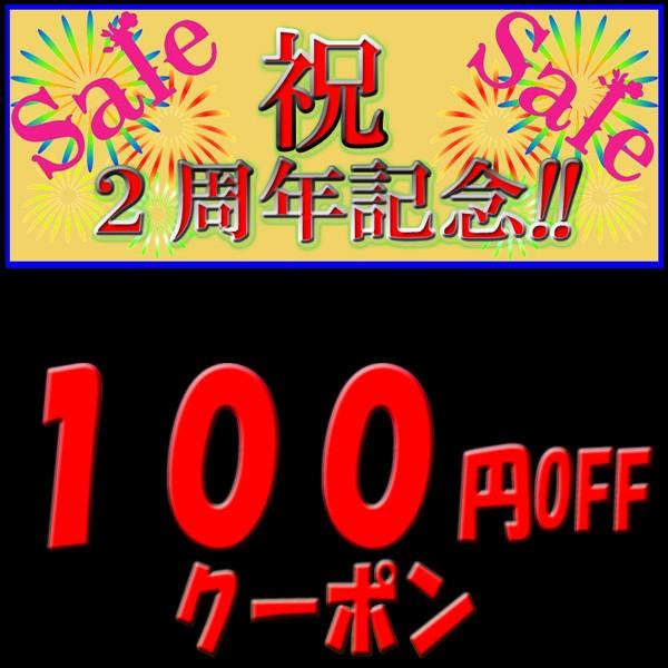 2周年記念100円引きクーポン