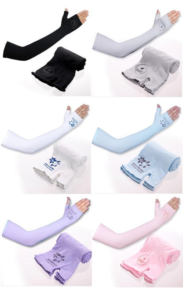 吸水速乾 機能性 冷感 クールアームカバー 手の甲を覆う手袋型 『UVカット 紫外線カット 涼しい 猛暑対策 日焼け対策 スポーツ ロング メンズ レディース 兼用 』