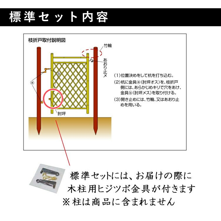 枝折戸標準セット内容