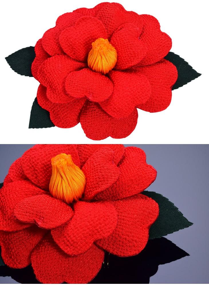 椿 大輪 花 赤 レッド