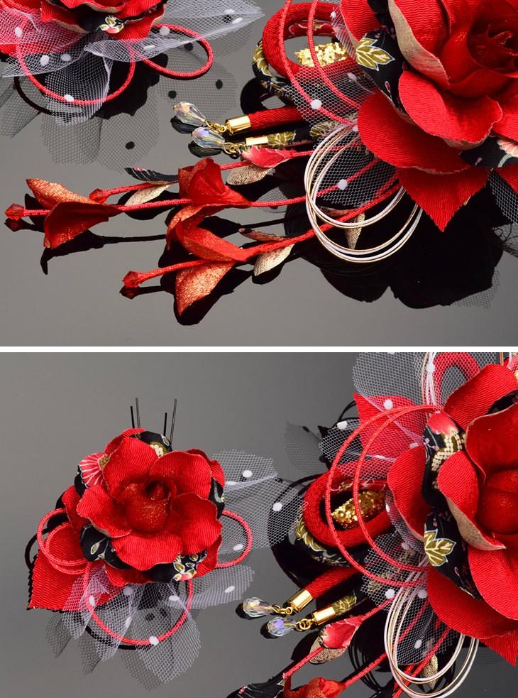 レッド 赤 大輪 花