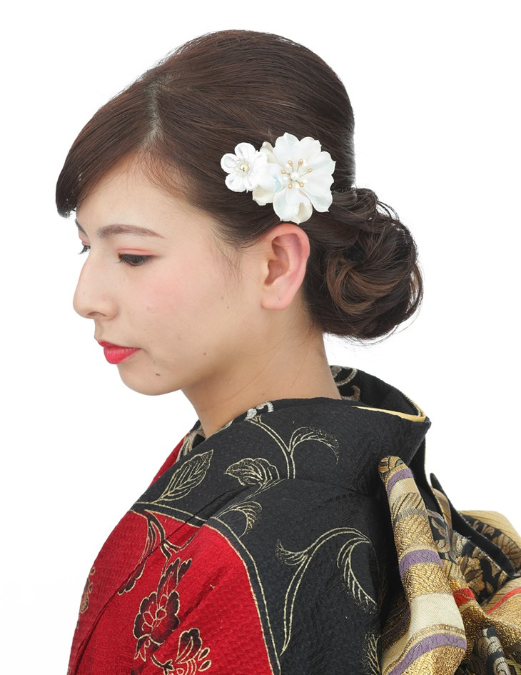 【つまみ細工アクセント花髪飾りセット】