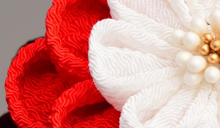 かんざし2点セット 753 菊 梅 花 つまみかんざし シルク ちりめん 髪飾り 髪留め ヘアアクセサリー 結婚式 婚礼 パーティー 浴衣 ゆかた 着物 東京伝統工芸マーク