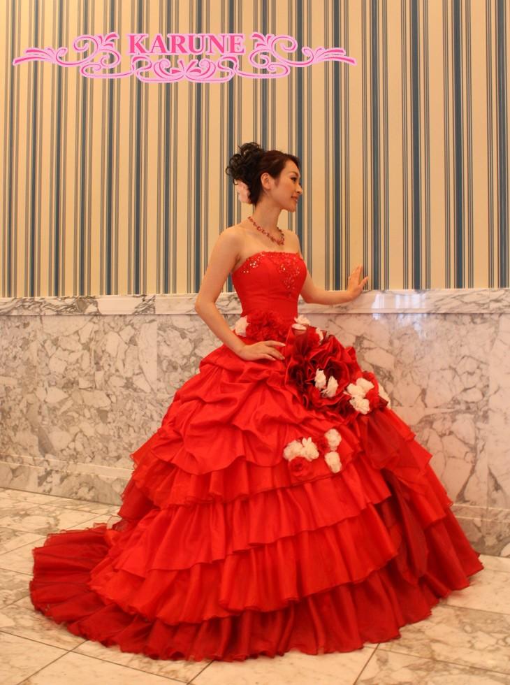 フリルカラードレス2