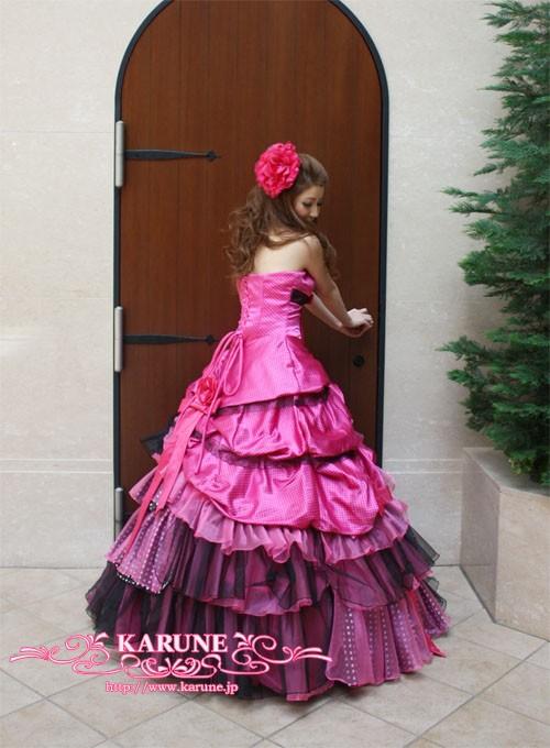 フリルカラードレス4