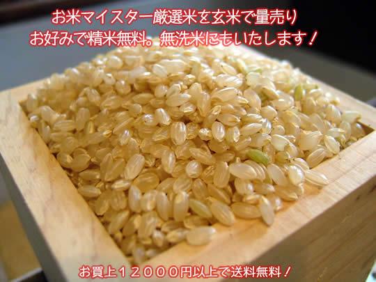 お米マイスター厳選米を玄米で量売り、お好みで精米無料!無洗米にもいたします。