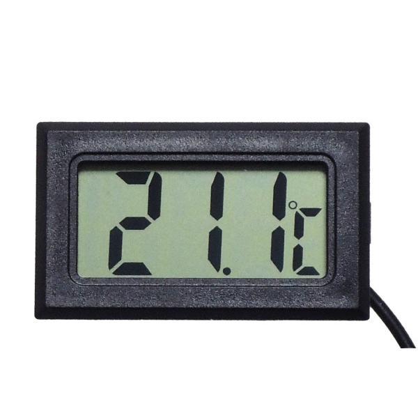 デジタル水温計 温度計 センサーコード長さ1m LCD 液晶表示 アクアリウム 水槽 気温|kaumo|07