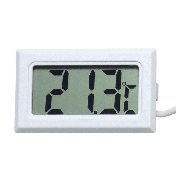 デジタル水温計 温度計 センサーコード長さ1m LCD 液晶表示 アクアリウム 水槽 気温|kaumo|08