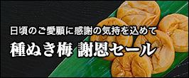 ■種ぬき梅謝恩セール■