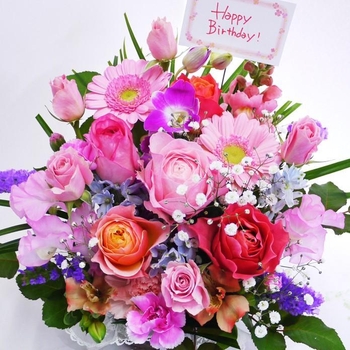 花 誕生日プレゼント 女性 男性 母 バラ フラワーアレンジメント 結婚記念日 退職祝い 退院祝い ギフト 送料無料 20代 30代 40代 50代 60代 70代 80代 90代|kawata-baraen|23