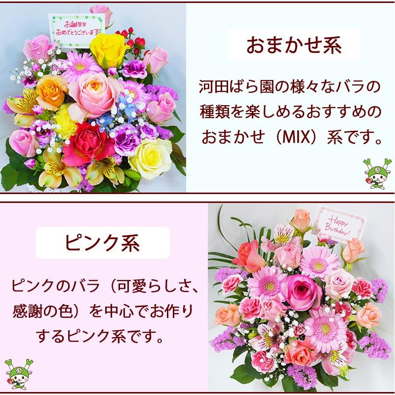 河田ばら園おまかせ系ピンク系