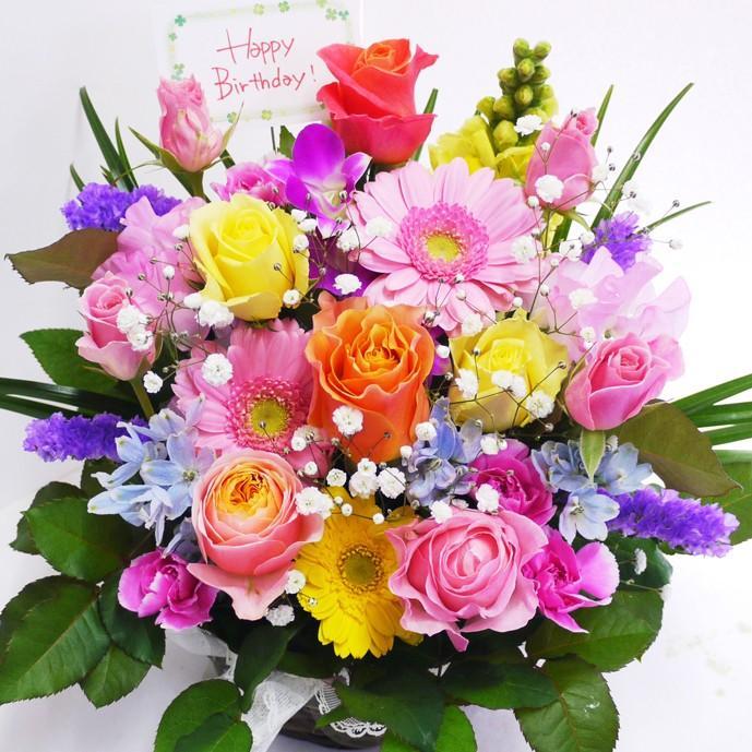 花 誕生日プレゼント 女性 男性 母 バラ フラワーアレンジメント 結婚記念日 退職祝い 退院祝い ギフト 送料無料 20代 30代 40代 50代 60代 70代 80代 90代|kawata-baraen|22