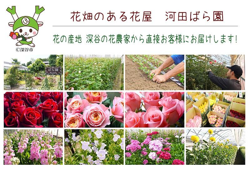 花畑のある花屋 河田ばら園 花農家直送