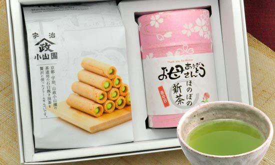 新茶とお菓子のセット