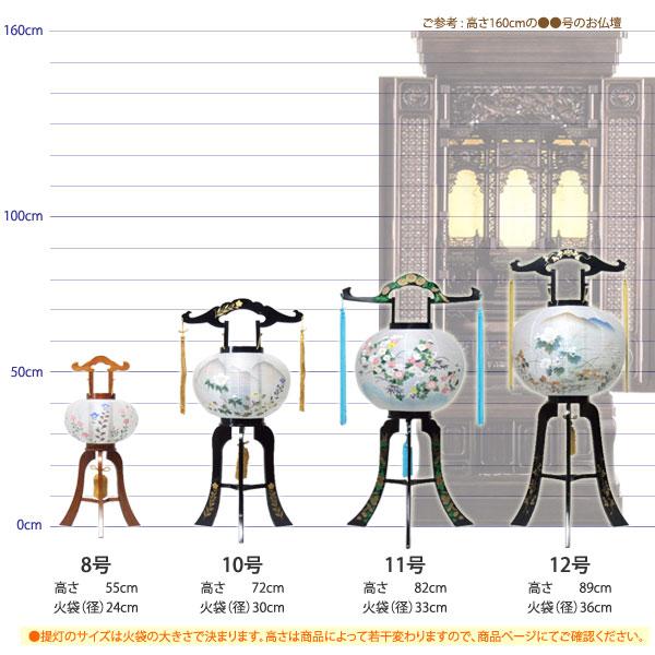 盆提灯のサイズ比較