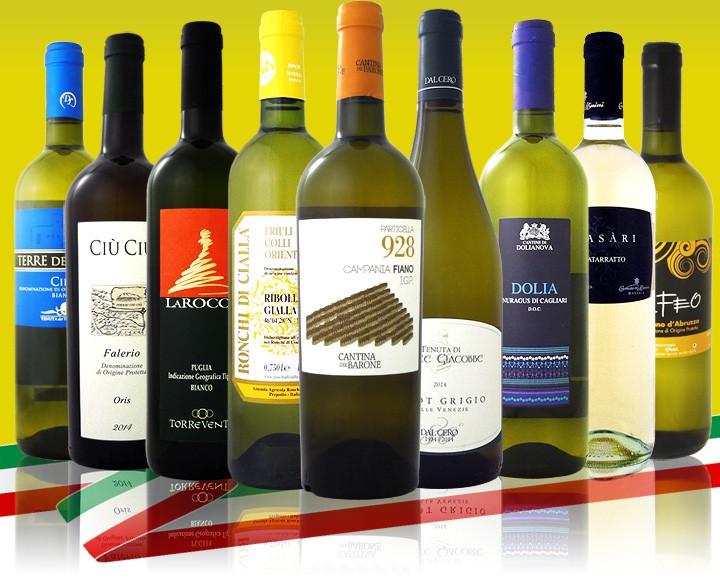 【送料無料】≪北から南までバラエティ豊かな個性を大満喫!!≫激旨イタリア白ワイン9本セット!!