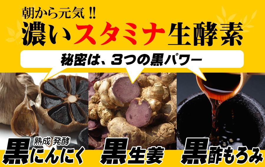 朝から元気 スタミナ 生酵素 黒幸寿 黒にんにく 黒生姜 黒酢もろみ