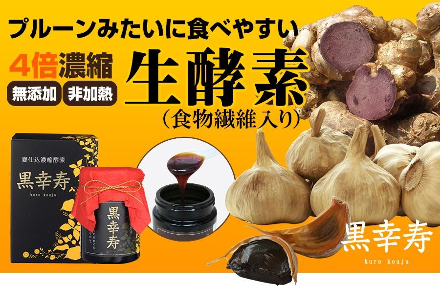 スタミナ 生酵素 黒幸寿 黒にんにく 黒生姜 黒酢もろみ