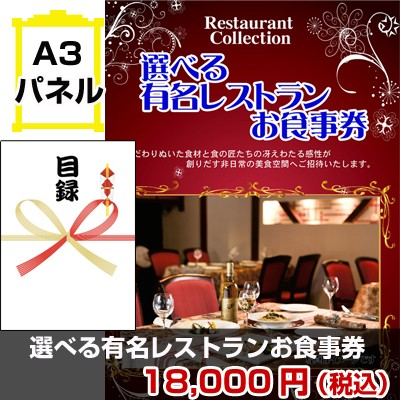 選べるレストラン景品パネル