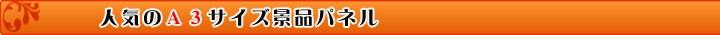 当店おすすめA3景品パネル