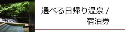 選べる日帰り温泉/宿泊券