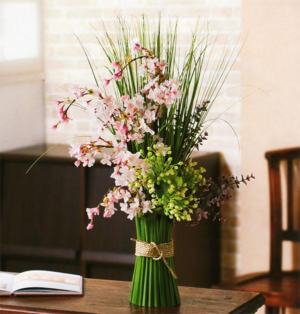 花を添えて華やかに