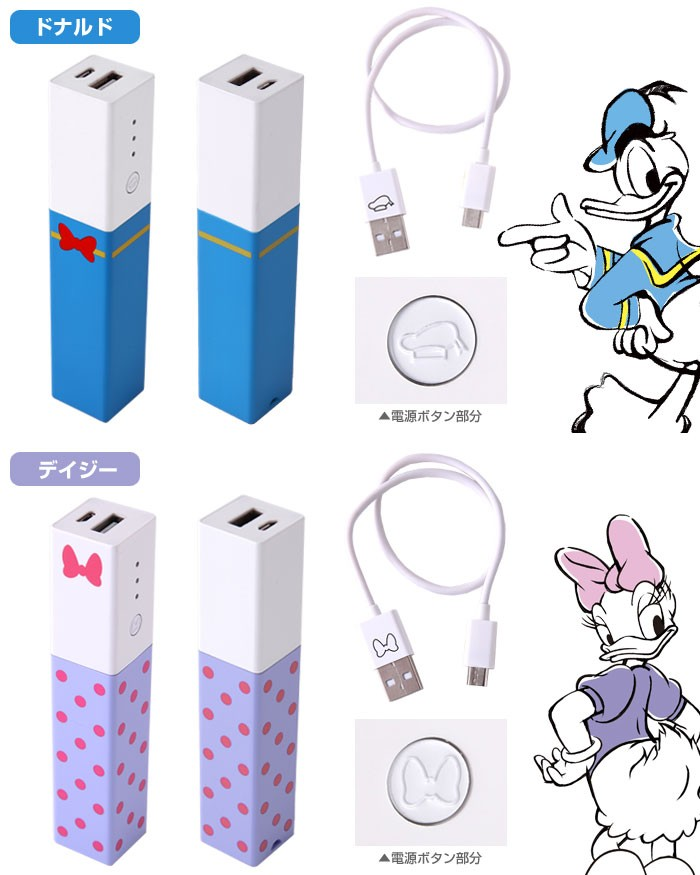 ドナルド、デイジーの充電器の詳細