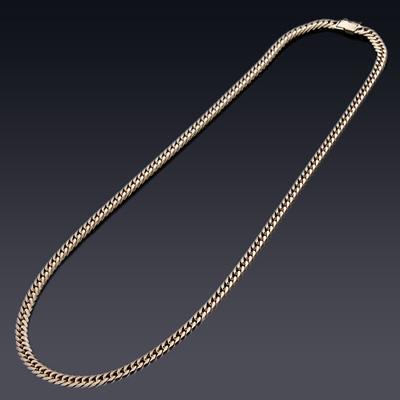六面(6面)ダブル喜平ブレスレット(20g-20cm)中留(K18ゴールド)