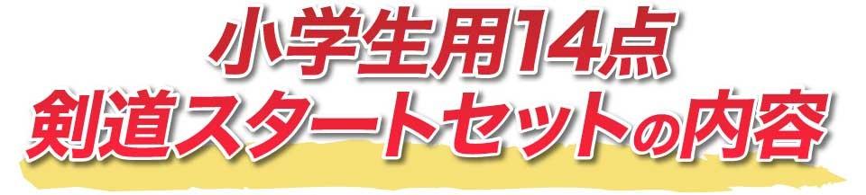 中学生用14点剣道スタートセットの内容