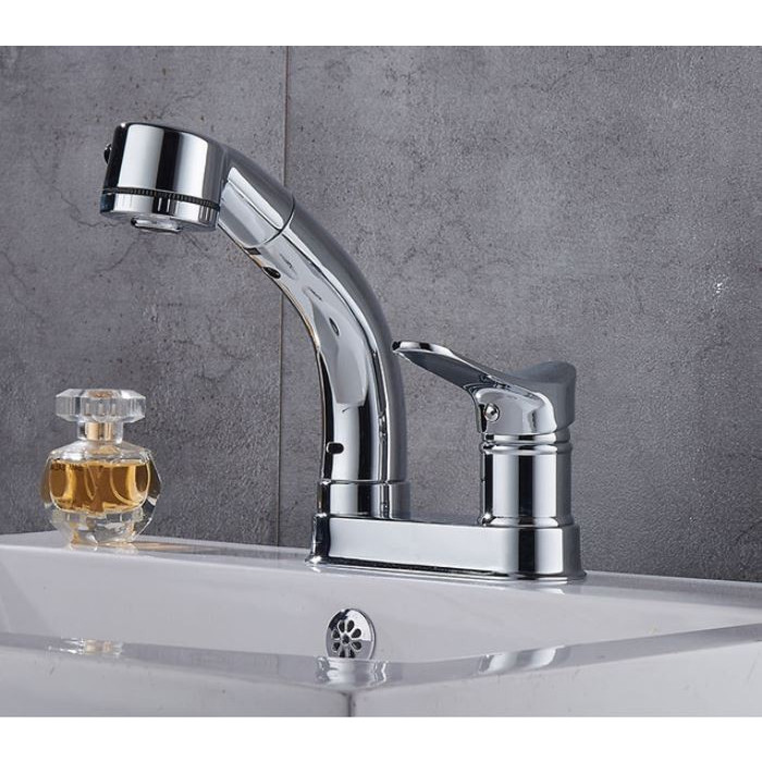 蛇口 洗面台 浴室 キッチン シャワー 混合水栓 交換 2つ穴 シャワーノズルが動く 高さ調整 おしゃれ クロム仕上げ|kenji1980-store|13