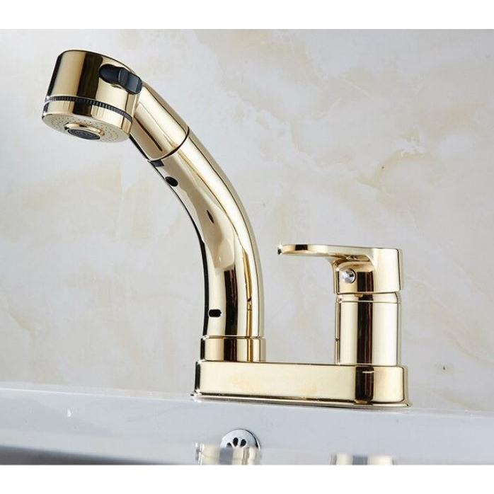 蛇口 洗面台 浴室 キッチン シャワー 混合水栓 交換 2つ穴 シャワーノズルが動く 高さ調整 おしゃれ クロム仕上げ|kenji1980-store|14