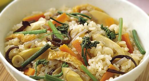 山菜おこわレシピ