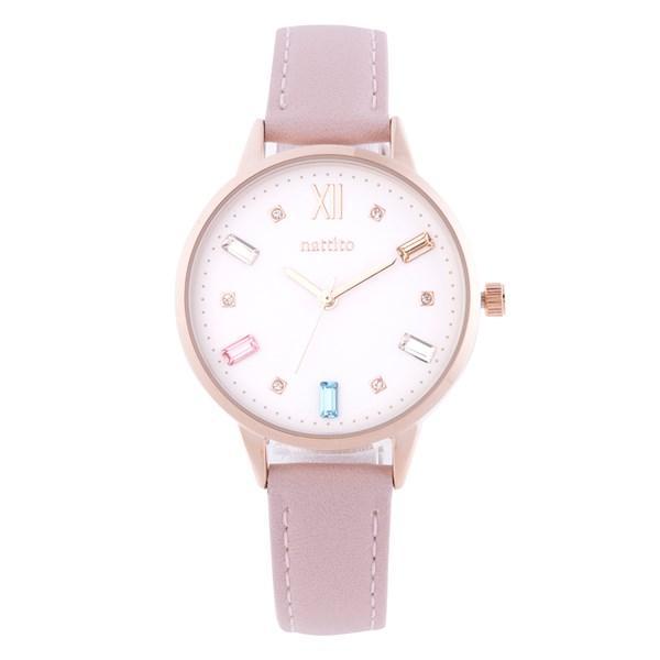 腕時計 レディース スワロフスキー 大人 おしゃれ かわいい ブランド シンプル ビジュー ギフト プレゼント メール便送料無料|kiitos-web|24