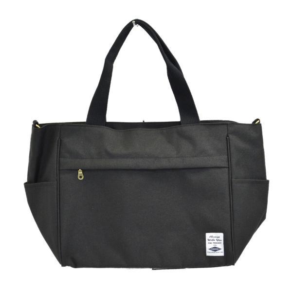 バッグ 10ポケット 2wayトート 軽量 高密度ナイロン キャンバス 多機能 マザーズバッグ ショルダーバッグ 斜め掛け レディース 大容量 旅行 送料無料|kiitos-web|27